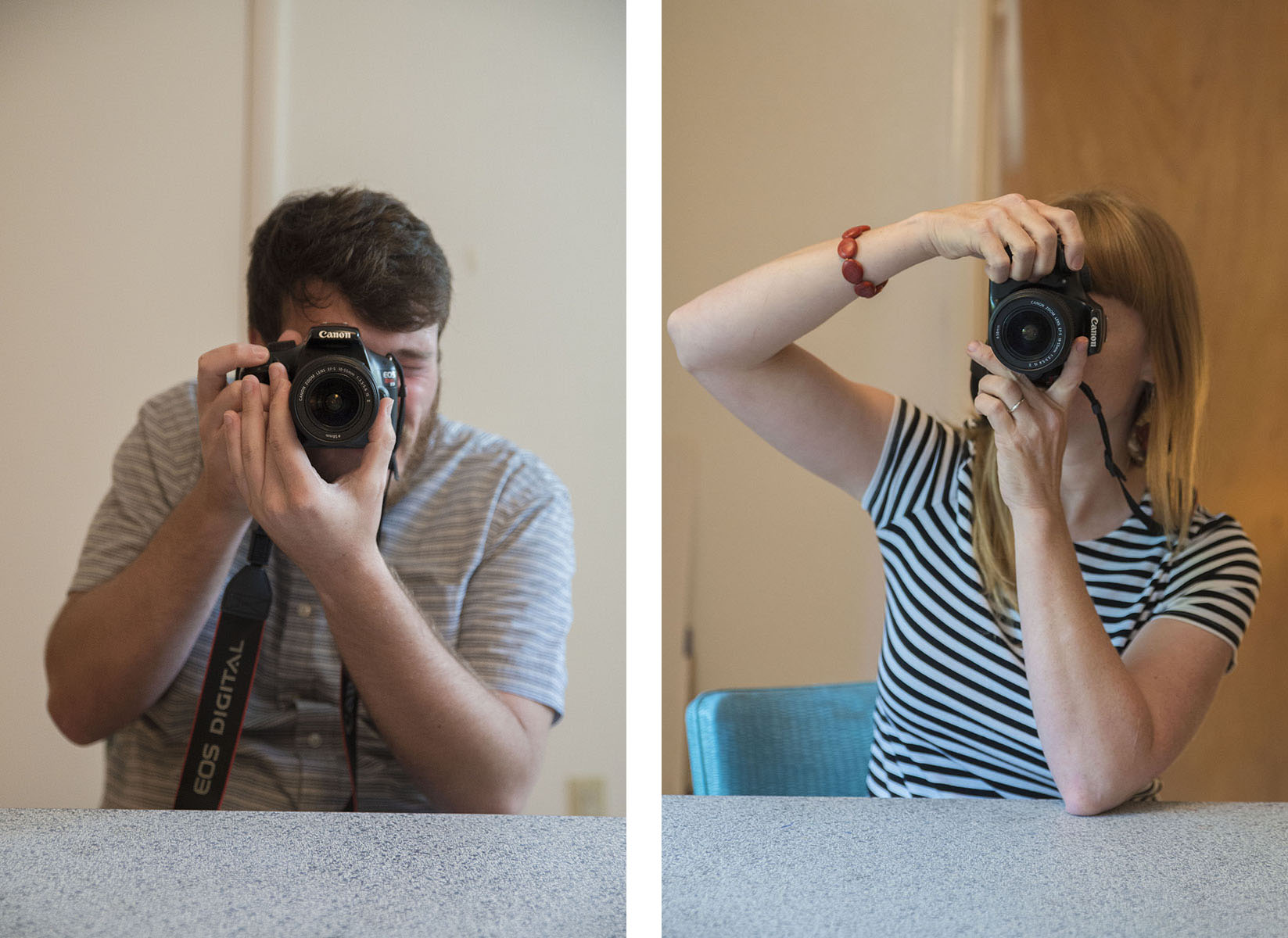 Dueling Photographers Diptych
