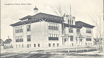 Longfellow School Postcard