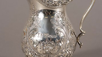 USS Boise Silver Set pitcher