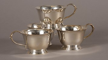 USS Boise Silver Set tea cups