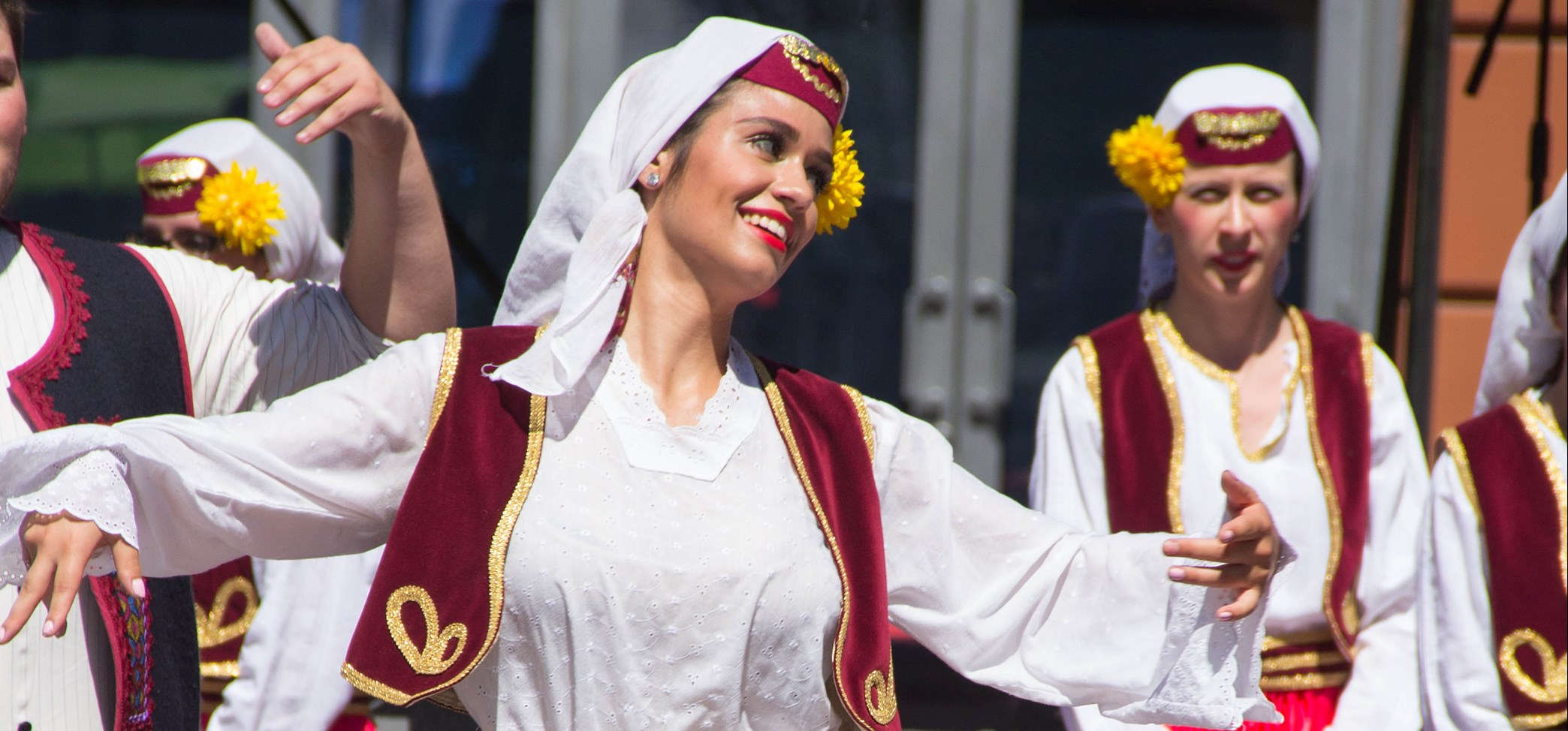 Female Basque dancers