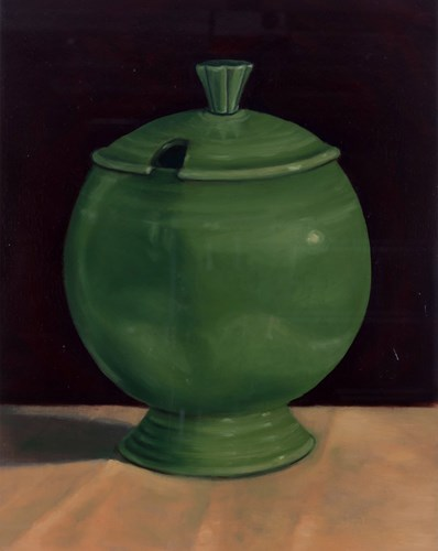 Painting of green ceramic